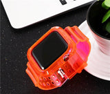 TRANSPARENT COLORS CASE AND STRAP FOR APPLE WATCH