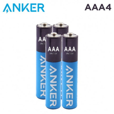 ANKER ALKALINE AAA BATTERIES (4-PACK)