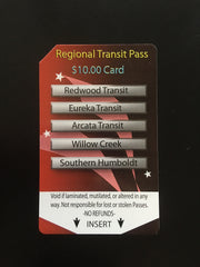 $10 Regional Transit/ Multi-Ride Pass