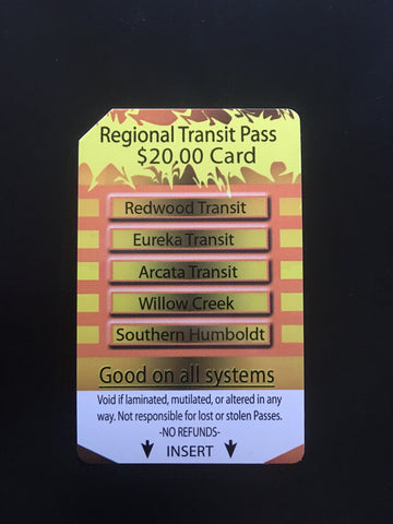 $20 Regional Transit/ Multi-Ride Pass