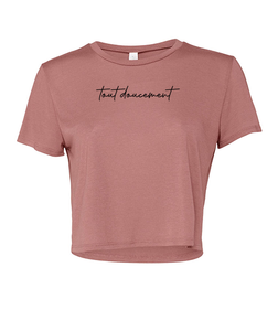 "Crop Top Femme ""Tout Doucement"" B - CROP TOP FLUIDE"