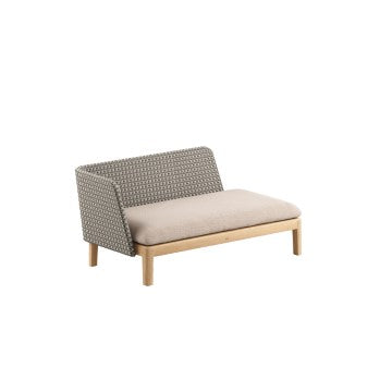 Royal Botania Calypso chaise longue met Kris Kross Fiber.