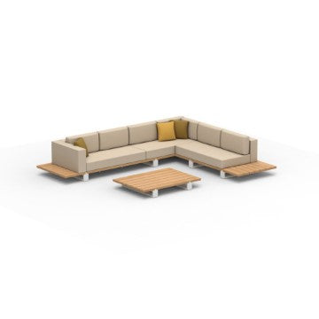 Royal Botania Vigor Lounge Set 4 Mahoniehout