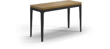 Gloster Grid, salontafel Console Table verkrijgbaar in teak, nero ceramic