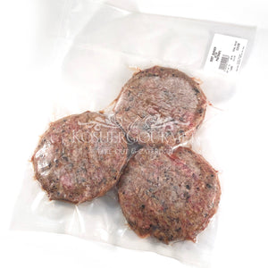 Raw Beef Hamburger with Pastrami