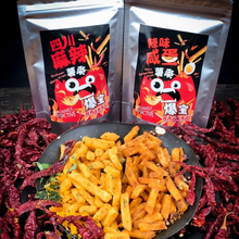 Load image into Gallery viewer, BaoBao Sichuan Mala Fries  Spicy Salted Egg Fries  Snacks Delivery SG