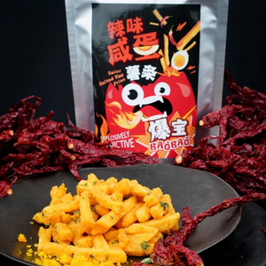 BaoBao Sichuan Mala Fries  Spicy Salted Egg Fries  Snacks Delivery SG