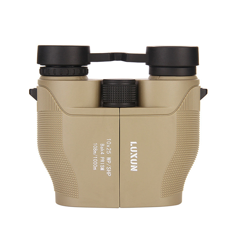 LUXUN® 10 X 25 Compact Binoculars for Adult Kids 10x25 Waterproof Binocular Weak Light Night Vision Folding High Powered Clear Binoculars Lightweight Bird Watching