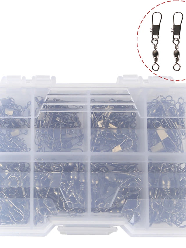 140 pcs Fishing Tackle Box Fishing Snaps & Swivels Steel Stainless Easy to Use Jigging Sea Fishing Fly Fishing Bait Casting Fishing Removal Tools Fishing Outdoor Recreation Sporting Goods / Spinning