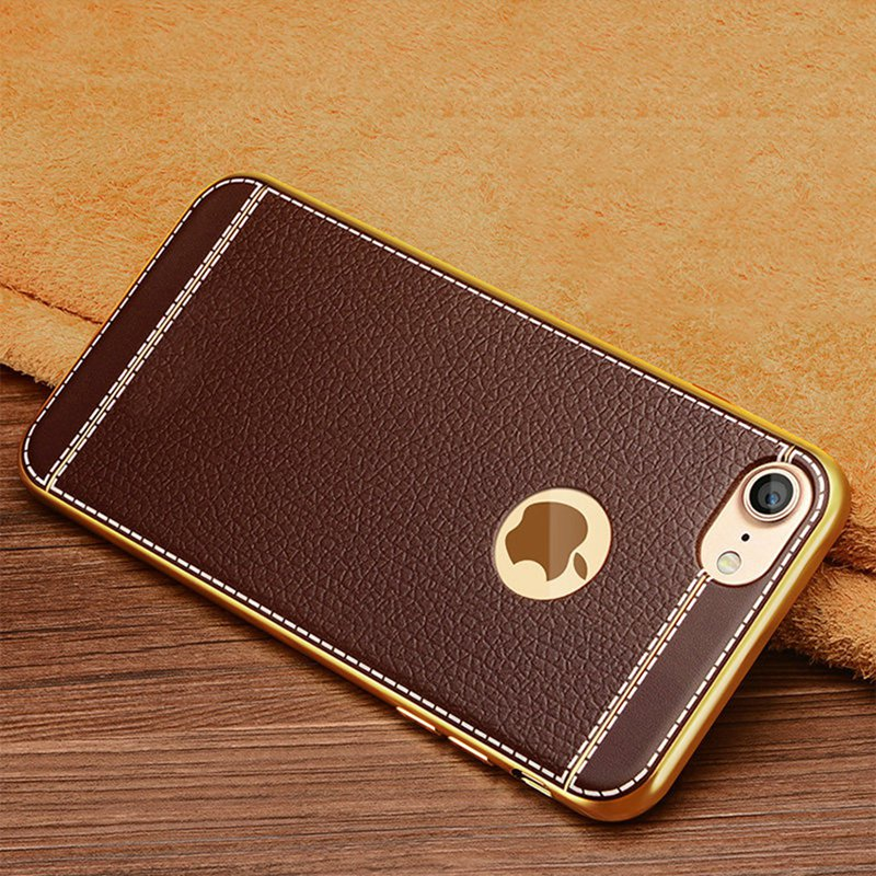 Gold Plated Genuine Brown Leather Card Holder Wallet Flip Folding Case iPhone X/XS Case Cover Genuine Brown Leather Card Holder Wallet Flip Folding Case Compatible with Apple iPhones (iPhone X/XS)
