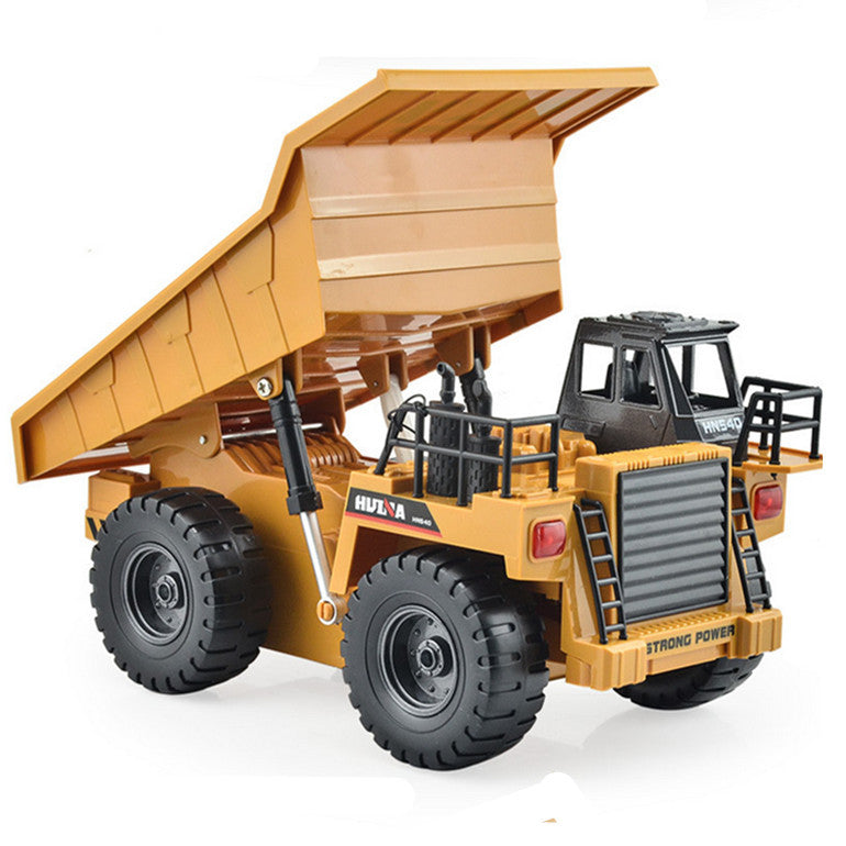 Remote Control Trucks RC Dump Truck 1/18 6CH Remote Control Dump Truck RC Construction Vehicles 2.4G Alloy Metal RC Trucks