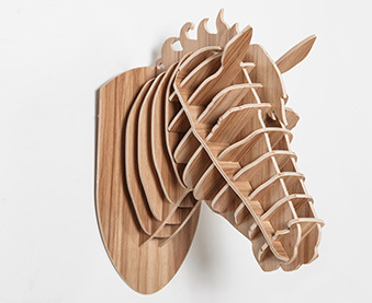 Beautiful 3D Horse Head Wall Mount