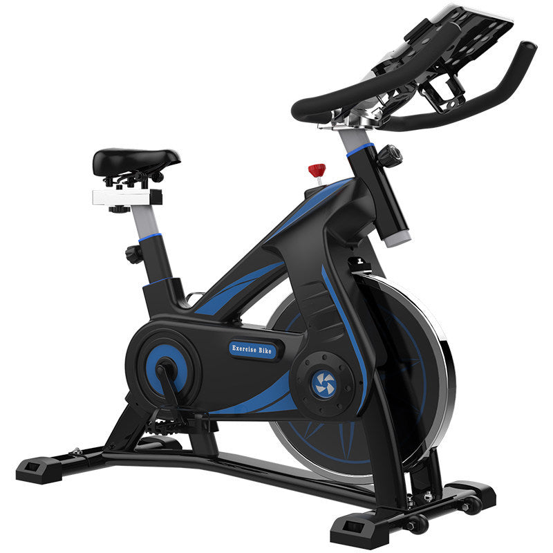 Spinning Bike, Ultra-Quiet Indoor Exercise Bike, Family Bicycle Bicycle Fitness Equipment, Aerobic Exercise, Artificial Design, Adjustable Handle and Seat, Friction Resistance
