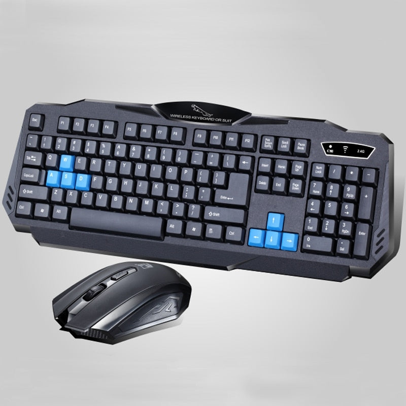 1 Set of Durable Fashion Colorful Ergonomical-designed Wireless Black Keyboard Mouse Combos for Office & Home & Computer & Gaming