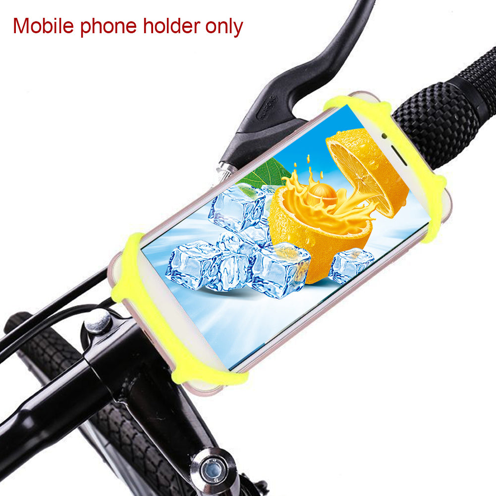 Portable Silicone Strap Mountain Bike Mobile Navigation Bracket Safety Strap Bracket Bicycle Bracket Strap