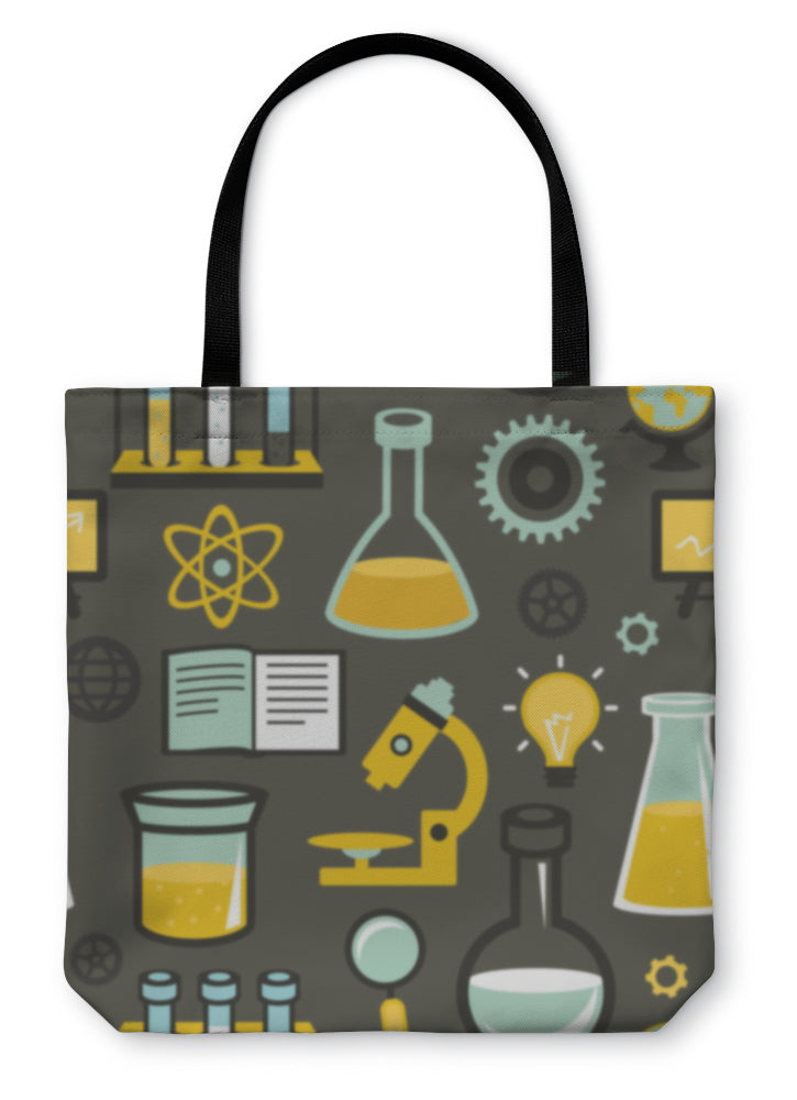 💡Education And Science Pattern Tote Bag