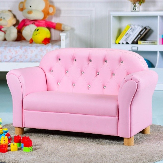 Kids Armrest Lounge Couch Chair Sofa Children Toddler Gift Flip Open Loveseat Armchair Bed Sleeper Room Furniture BeUniqueToday