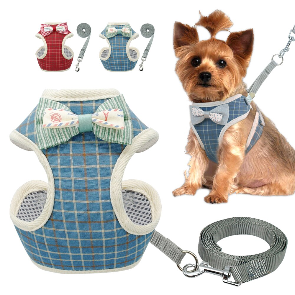 Small Dog Harness and Leash Set - No Pull Pet Harness with Soft Mesh Nylon Vest for Small Dogs and Cats
