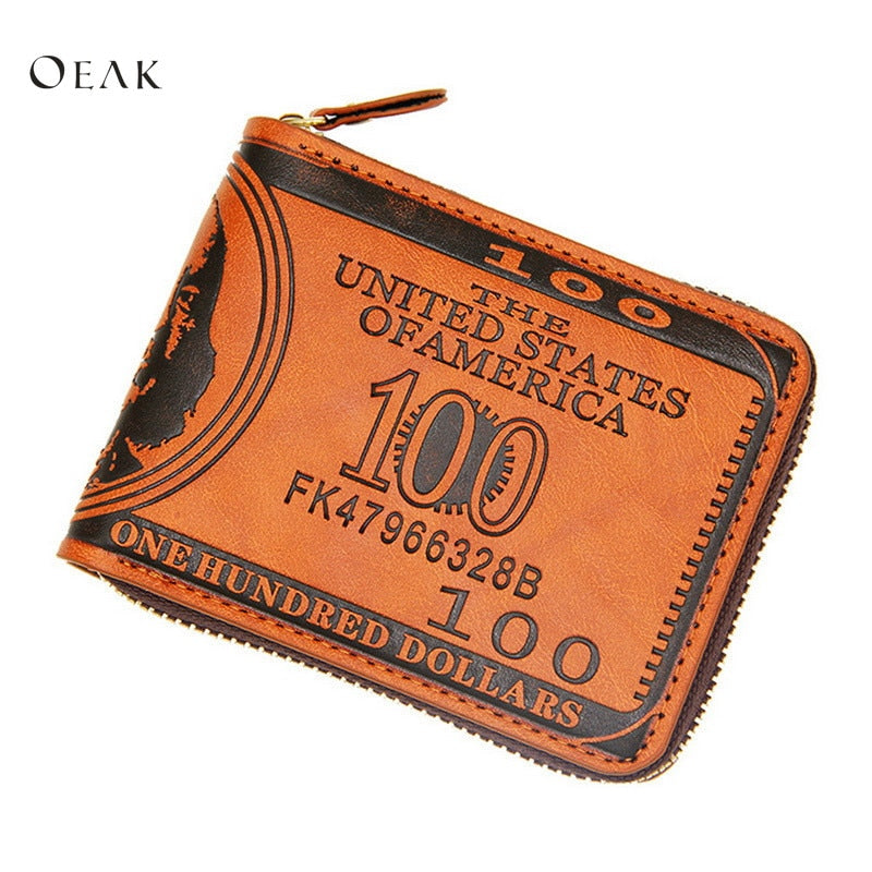 Genuine Leather Men's Short Wallet Retro-Vintage