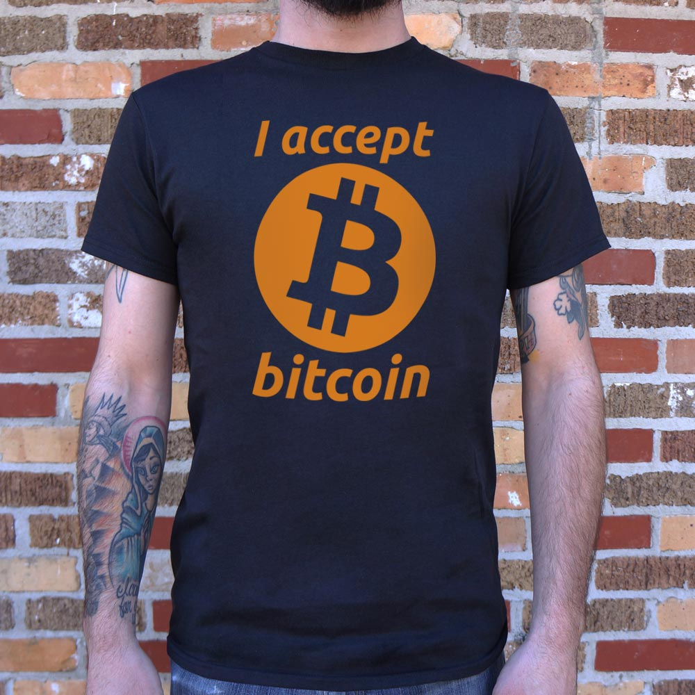 I Accept Bitcoin - Cryptocurrency Tee Shirt - (Mens)