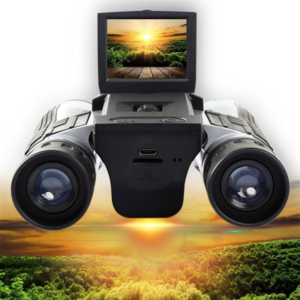 "Binoculars Camera Digital Telescope Camera,2"" LCD Display 12x32 Folding Prism Digital Binoculars with Camera Video Great for Bird Watching Outdoor Sports Games and Concerts"