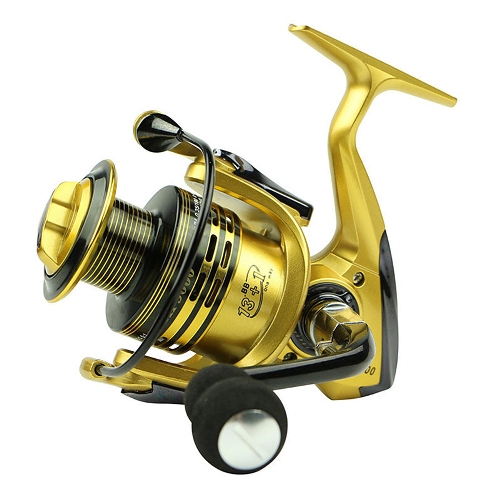 Fishing Reel Spinning Reel 5.5/1 Gear Ratio+13 Ball Bearings Hand Orientation Exchangable Bait Casting / General Fishing - XF5000