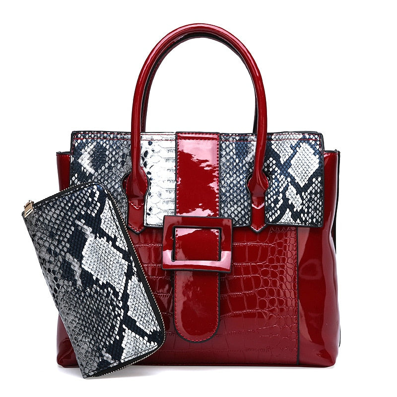 WALLET FOR FREE! Brand New Fashion Crocodile Pattern Women Shoulder Bag
