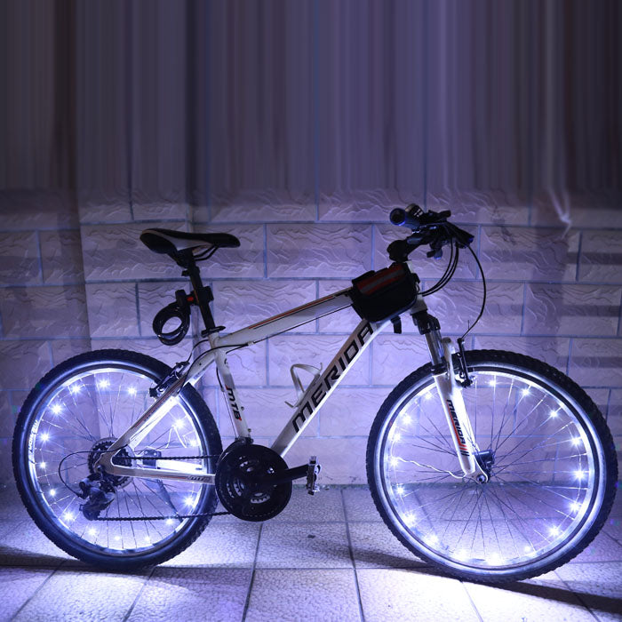 2M/20LED Motorcycle Cycling Bike Bicycle Wheels Spoke Flashlight Lamp Impression Riding Cycling Wheel 5 colors