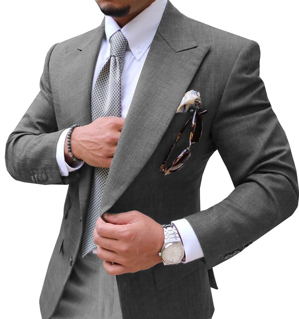 Only Jacket!! Mens Slim Fit Two Button Suit Blazer Jacket Casual Party Sport Coat