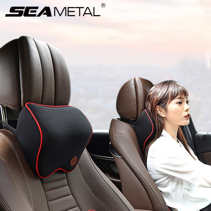 Car Neck Headrest Pillow Cushion Auto Seat Head Support Neck