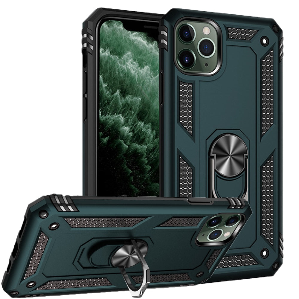 IPhone X Case | iPhone Xs Case [ Military Grade ] 15ft. Drop Tested Protective Case | Kickstand | Wireless Charging | Compatible with Apple iPhone X Case | iPhone Xs Case