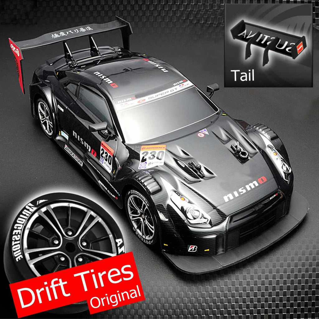 High Speed Remote Control Car 1:16 58km/h RC Drift Racing Car 4WD 2.4G High Speed GTR Remote Control Max 30m Control Distance Electronic