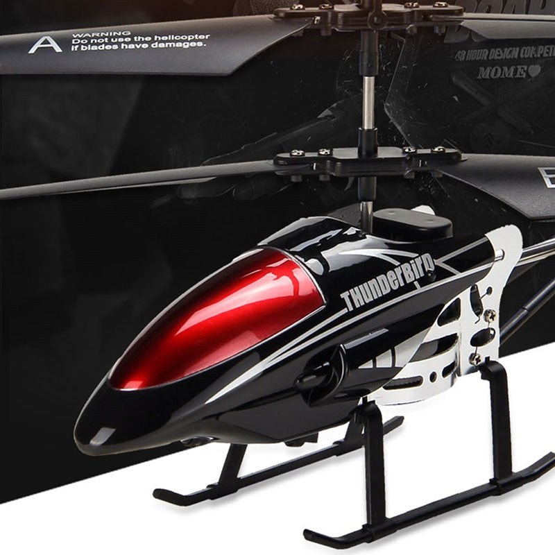RC Helicopter, 3.5 CH Radio Control Helicopter with LED Light, RC Helicopter Children Gift Shatterproof Flying Toys Model
