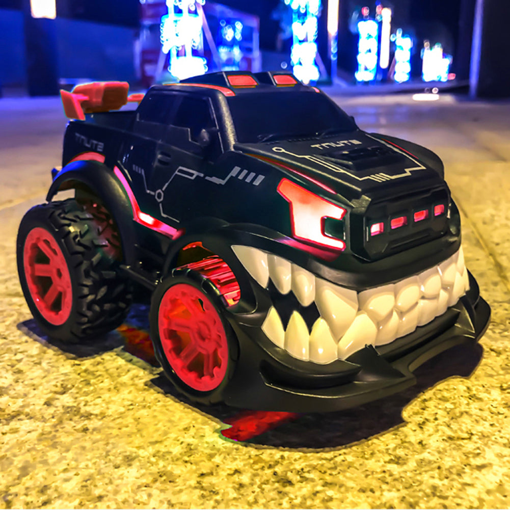 Remote Control Car RC Stunt Inverted and 360° Rotation Shark Angry Style for Boys & Kids,2.4Ghz with Flashing Lights