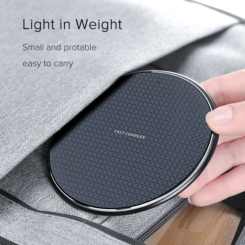 Wireless Charger, PowerWave Pad Upgraded 10W Max, 7.5W for iPhone 11, 11 Pro, 11 Pro Max, Xs Max, XR, XS, X, 8, 8 Plus, 10W Fast-Charging Galaxy S10 S9 S8, Note 10 Note 9 Note 8