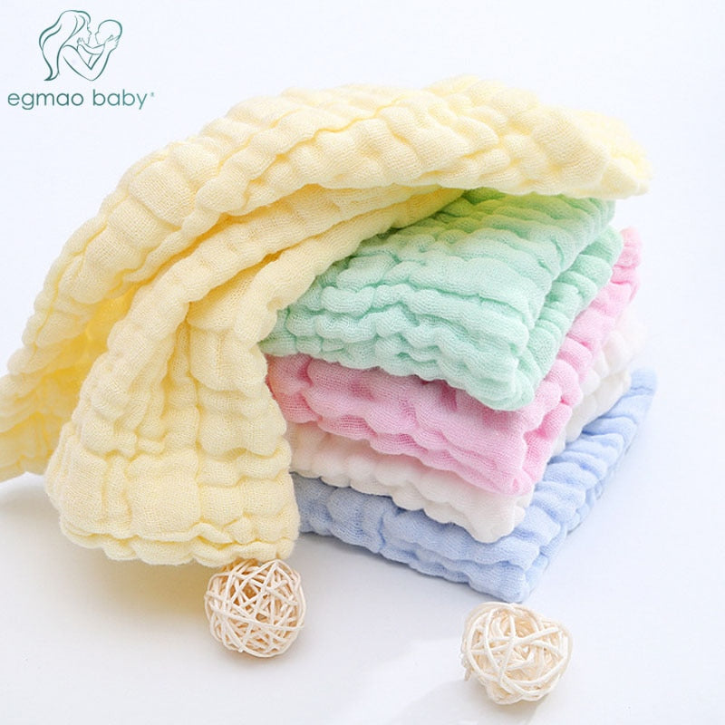 👶         3Pcs Baby Washcloths Natural Cotton Baby Wipes Very Sofy for Sesitive skinSoft