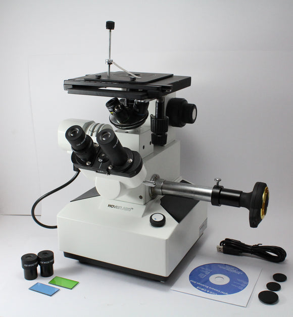 Inverted Metallurgical Microscope with Trinocular Photomicrography Attachment