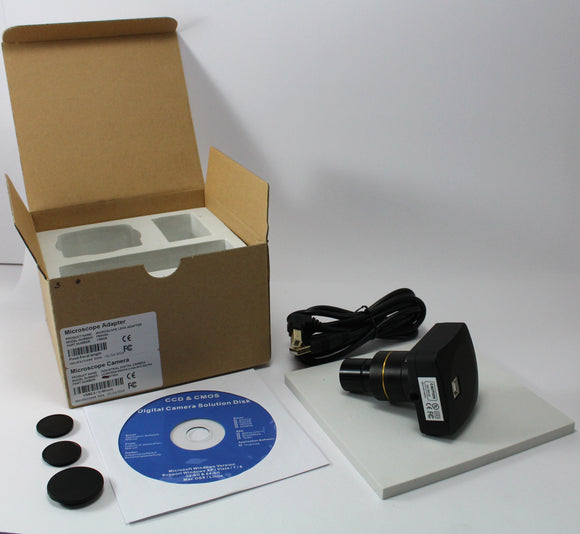 5 Megapixel Research Microscope Camera with Adapter and Measurement Software