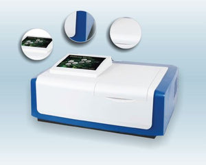 Microprocessor UV-VIS Double Beam Touch Screen Spectrophotometer With Software.