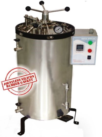 VERTICAL AUTOCLAVE RADIAL LOCKING (SS) FULLY AUTOMATIC