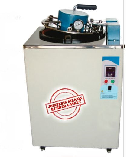 VERTICAL AUTOCLAVE SINGLE LEVER ,MS, FULLY AUTOMATIC