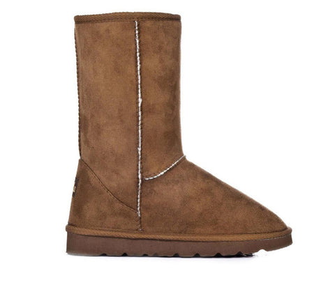 Chestnut Mid Calf Snow Fur Boots S185
