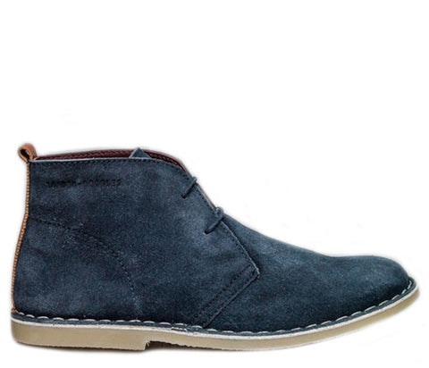 Caxton Blue London Brogues Suede Desert Boots S419