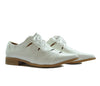 Dolcis White Flat Low Heeled Cut Out Lace Up Loafers S280