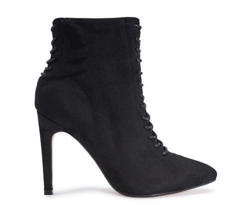 Shelby Black Lace Up Ankle Boots S499