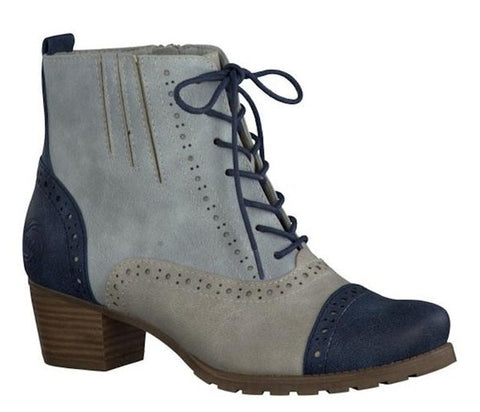 Marco Tozzi Sky Brogue Low Heel Ankle Boots S483