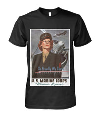 Marines Corps Women's Reserve Vintage Poster Tee