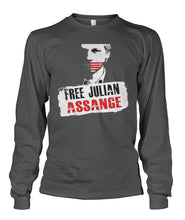 Load image into Gallery viewer, Free Julian Assange Long Sleeve Shirt
