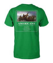 Load image into Gallery viewer, Americans - Willing to Cross A Frozen River to Kill You(Image On Back)- Delaware- Short Sleeve
