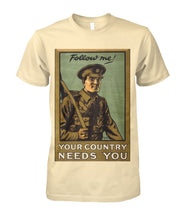 Load image into Gallery viewer, Follow Me Infantry- Vintage Poster Tee